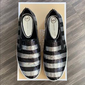 Michael Kors like new sequin slip on sneakers